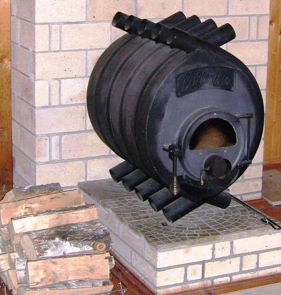 Железная печь отопления для дома своими руками